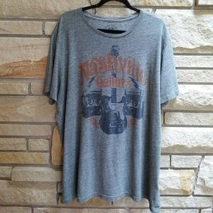 Lucky Brand Nashville Guitars grey graphic T-shirt